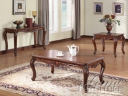 ACME 10240-41-42 Birmingham 3 PC Cherry Occasional Table Set