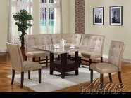 ACME 10280-82-83-84 Britney White Marble Top Dining Table Set