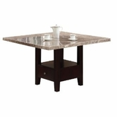 ACME 10280 DINING TABLE W/WH MARBLE TOP (T/ST/LEG)