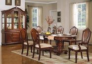 ACME 11830-4X33 Traditional Oval Double-Pedestal Table Set