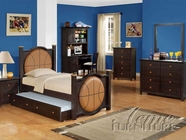 ACME 11965T-71-72 All Star Basketball Bedroom Set in Espresso