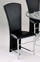 ACME 12119 CHROME/BK PVC SIDE CHAIR