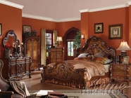 ACME 12140Q-44-45 Dresden Traditional Bedroom Set in Cherry Oak
