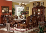 Acme 12150-53 Dresden Cherry Solid Wood Traditional Pedestal Dining Table Set