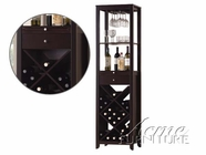 ACME 12244 WENGE WINE CABINET TOWER