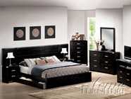 ACME 12300Q-02-03-05-06 Black Bycast Bedroom collection