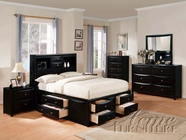 ACME 14110Q-16-17 Black Finish Queen Size Bed Set