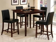 ACME 14195-4X97 Mina Square Counter Height Dining Set