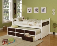 ACME 14990T WH/ES TWIN CAPTAIN BED&TRUNDLE 3CTN