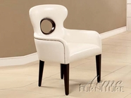 ACME 15053 WHITE PU ACCENT CHAIR
