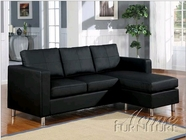 ACME 15065 BLACK PU SECTIONAL SOFA