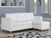 ACME 15068 WHITE PU SECTIONAL SOFA