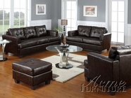 ACME 15070B-71B-72B Diamond Brown Bonded Leather 3 PC Sofa Set