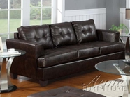 ACME 15070B BROWN BONDED LEATHER SOFA-P2 (WOOD LEG)