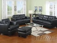 Acme 15090-91  Black Bonded Leather Living Room Furniture Set