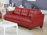 ACME 15100 RED BONDED LEATHER SOFA