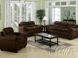 ACME 15145-46-47 Standford-Chocolate-Easy-Rider-Microfiber-3-PC-Sofa-Set