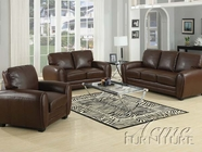 ACME 15240A-A-41-42 Amber Brown Bonded Leather 3 PC Sofa Set