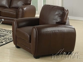 ACME 15242A-A DARK BROWN BONDED LEATHER CHAIR