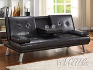 ACME 15280 ESPRESSO PU ADJUSTABLE SOFA W/CUP HOLDER