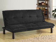ACME 15282 BLACK MICROFIBER ADJUSTABLE SOFA