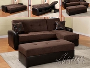 ACME 15775 CHOCOLATE ADJ. SECTIONAL SOFA (2 CTN)