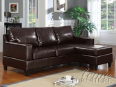 ACME 15915A ESPRESSO BONDED LEATHER SECTIONAL