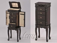 ACME 16008 BLACK FINISH JEWELRY ARMOIRE -3A3B PACKING W/P2