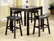ACME 16044 5PC BLACK PK DIN. CNTR H. /BK STOOL -W/E0