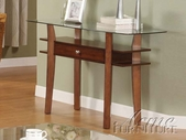 ACME 16234 WOOD BASE/GL TOP SOFA TABLE