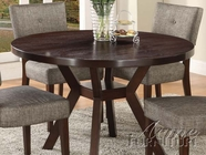 "ACME 16250 ESPRESSO 48"" RD DINING TABLE"