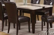 ACME 16550 + WH/BK FAUX MARBLE DINING TABLE