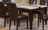 ACME 16650 - BK/WH FAUX MARBLE DINING TABLE