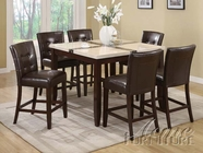 Acme 16655-7055-- Faux Marble Top Counter Height Dining Set