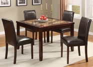ACME 16660 ESP 5PC PK FAUX MARBLE DINING SET