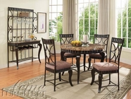 ACME 18285-4X87 Galiana Brown Marble Top Dining Table Set