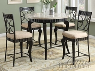 ACME 18294-4X96 Galiana White Marble Top Counter Height Table Set