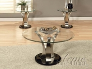 ACME 18410-2X12 Cady 3 PC Occasional Table Set with Glass Tops