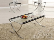 ACME 18420-2X22 Glass Top Occasional Table Set