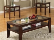 ACME 18462 3PC PK COFFEE/END TABLES