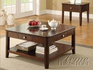 ACME 18468-2X69 Adam 3 PC Walnut Occasional Table Set