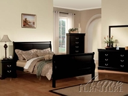 ACME 19500Q-04-05 Louis Philippe III 5 PC Bedroom Set in Black