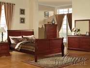 ACME 19520Q-24-25 Louis Phillipe III KD Cherry Finish Queen Bedroom Set