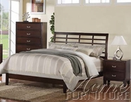 ACME 20090Q CAPPUCCINO QUEEN BED, HF/R