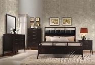 ACME 20110Q-14-15 Boardwalk 5 PC Contemporary Bedroom Set in Wenge PU