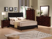 ACME 20160Q-64-65 Ridge Espresso PU Finish Queen Size Bedroom Set