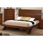 ACME 20230Q OAK QUEEN BED, HB/FR/LEG/SL