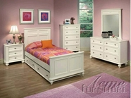 ACME 30005T-10-11 Athena White Finish Twin Size Bedroom Set