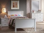 ACME 30025T-40-41 Bungalow White 5 PC Panel Bedroom Set