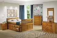 ACME 30045T-50-51 Atlas Honey Oak 5 PC Bedroom Set